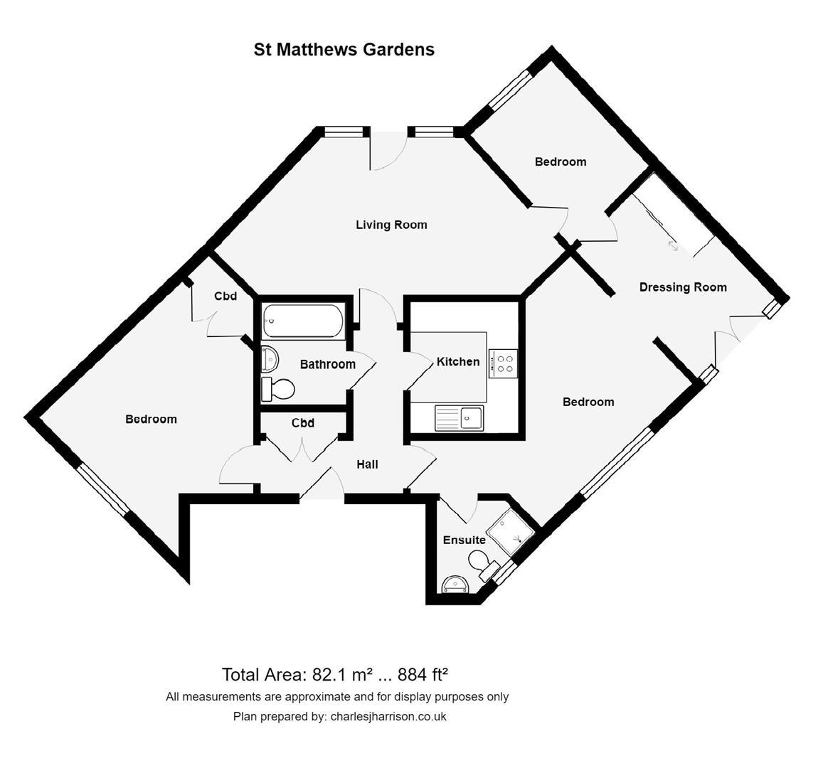 Floor plan St. Matthews Gardens, Cambridge